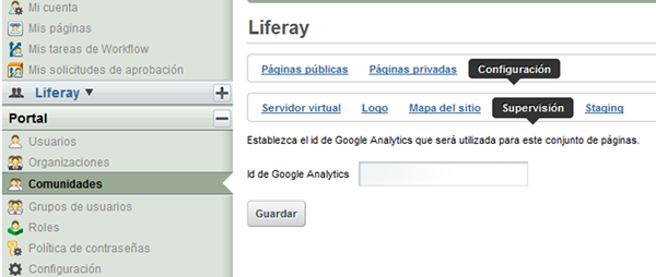 Insertar ID Analytics en Liferay 6.0.6 y 5.2.3
